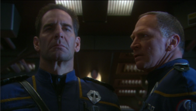 In the mirror universe, Forest is the captain of Enterprise