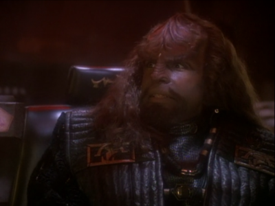 Worf gets to be a bad guy