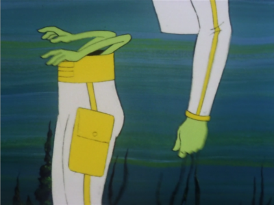 Bem jumps in to help, but then detaches his legs. I accept a lot of weird things in Star Trek, but for some reason I don't accept this