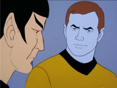 Then everyone else gets blue except for Spock, who is immune, of course