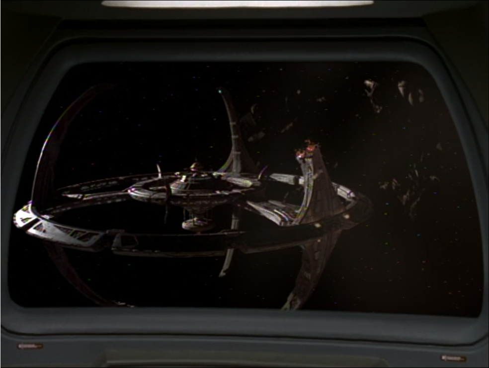 The Defiant returns to DS9 to see that it's been attacked by Jem'Hadar!