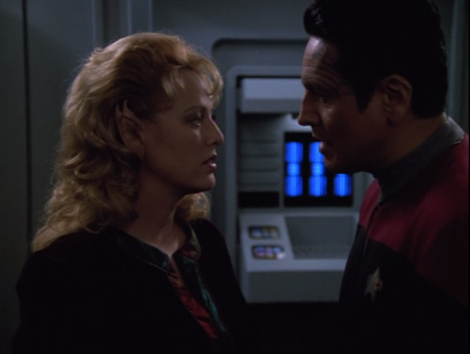 Then Chakotay tries to convince her that they were in love, but now she thinks she'd better go home