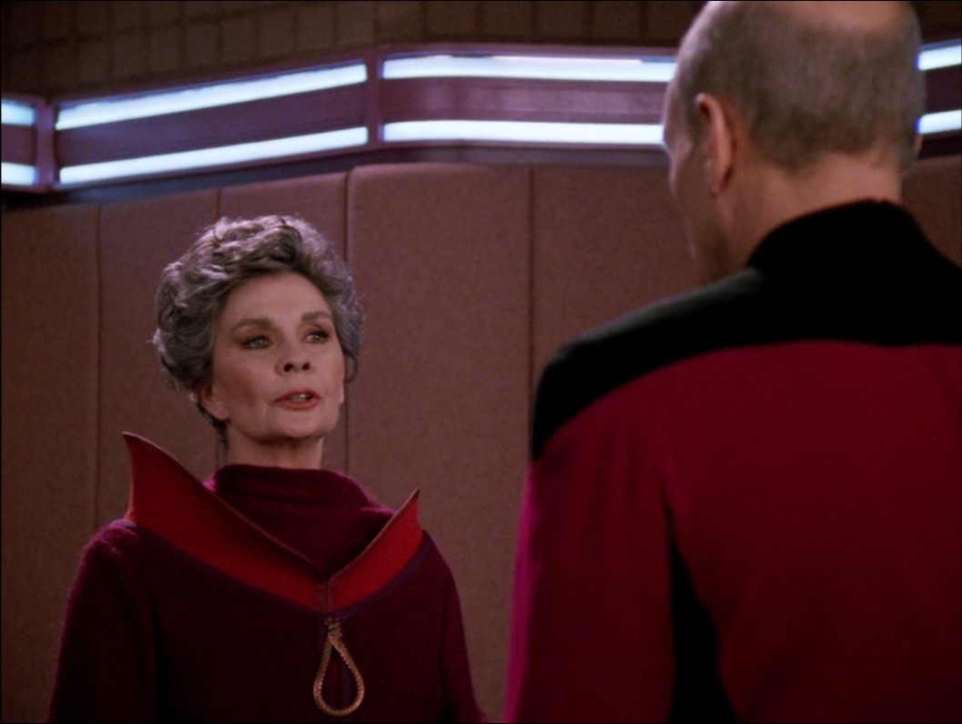 Picard thinks things are getting out of hand with the accusations and investigation. Jean Simmons is just getting started though