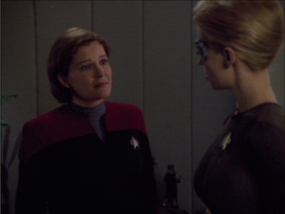 Seven knows about the Omega stuff because of the Borg, so Janeway asks for her help