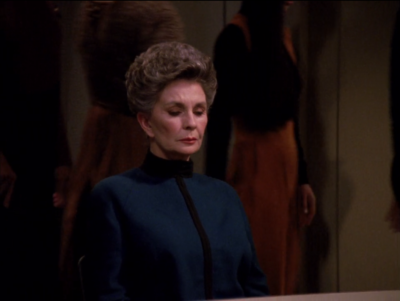 You don't just go trying to take down Picard in a trial episode.