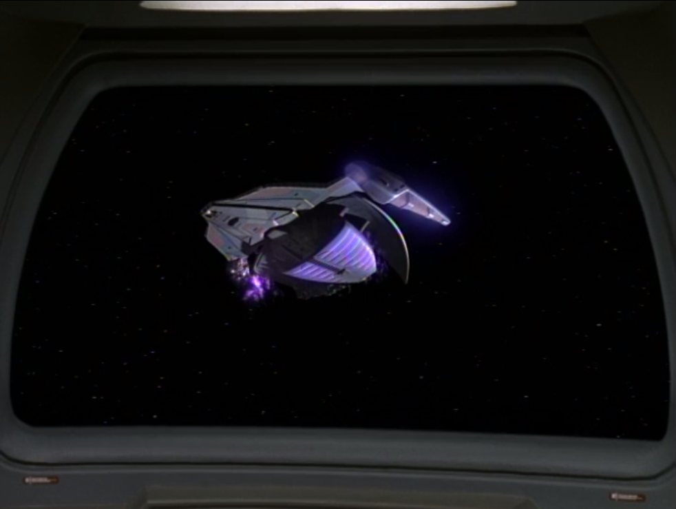 But when they're tracking down the attackers they find a Jem'Hadar ship in distress