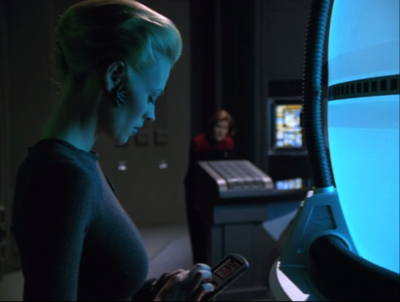 Seven wants to harness the molecules, and almost sees them as a religious figure, the essence of complexity and harmony creating perfection. Janeway doesn't want to take any risks, and just wants to destroy them