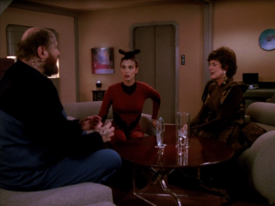 Ensign Ro shows up and tells him she's ashamed of him