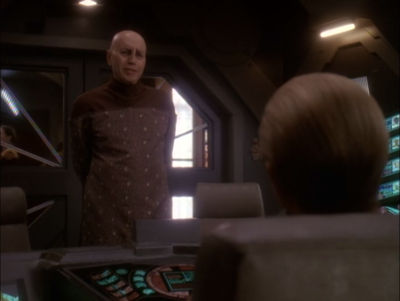 Lwaxana's husband shows up.