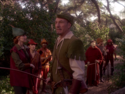Which naturally translates to making the crew go through the Robin Hood story