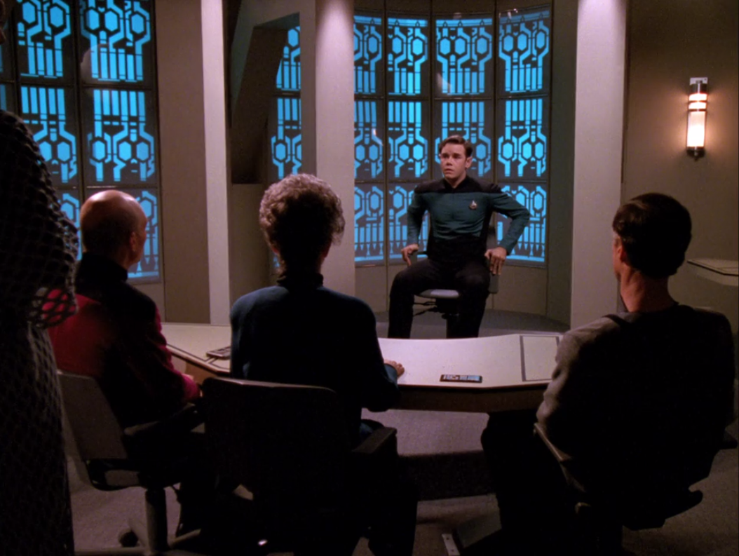 They don't think the Klingon was alone, so they question this guy
